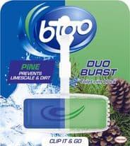 Bloo Duo Burst Toilet Rim Block - Pine 40g